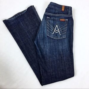 """7 For All Mankind: A Pocket Bootcut Jeans 33"""" Insm"""